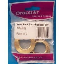 """Oracstar Brass Back Nuts - Flanged 3/4"""""""